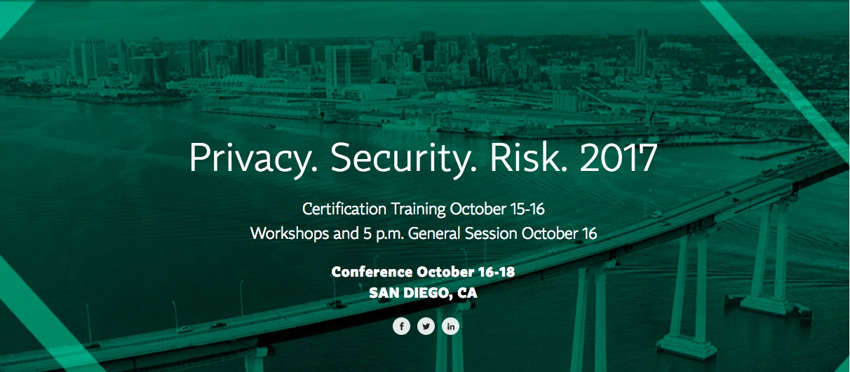 Iapp Privacy Security Risk 2017 San Diego October 16 18